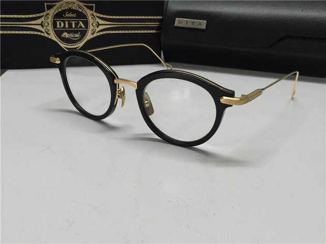 cf5033dfb71 2015 new Dita eyewear DITA EDMONT round shape glasses frame shiny gold women  design optical 18K gold