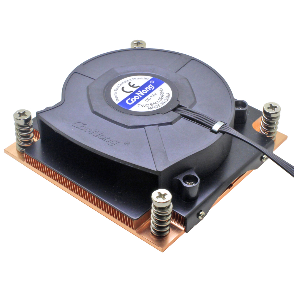 1U server CPU cooler 8015 blower cooling fan copper heatsink for Intel LGA 1150 1151 1155 1156 Industrial computer cooling image