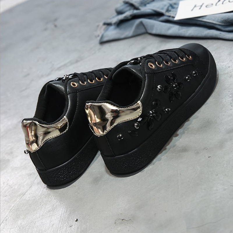 2018 Fashion New Women Casual Shoes Leisure Bling Breathable Round Toe Ladies Sneakers Female Shoes Footwear YBT1014