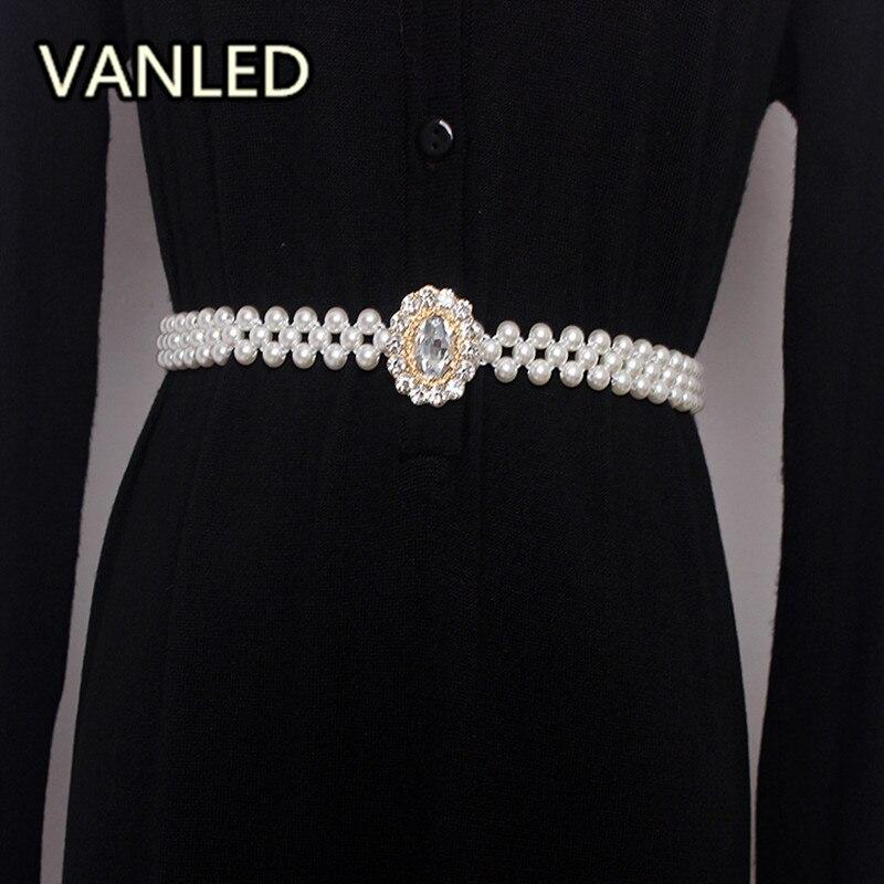Vintage Fashion Bead Women Elastic Waist Belts Accessary
