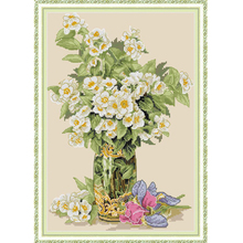 Joy Sunday,Yellow flower,cross stitch embroidery set,printing cloth embroidery kit,needlework,DIY cross stitch embroidery kit joy sunday magnolia flower cross stitch embroidery set printing cloth embroidery kit needlework flowers picture cross stitch kit
