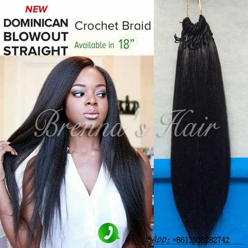Perfect human feeling straight hair yaki straight Crochet Braids Hair Dominican Blowout Straight hair Synthetic Braiding Hair