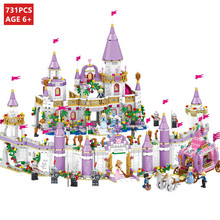 731Pcs City Romantic Castle Princess Building Blocks Sets Friends DIY Bricks Educational Toys for Girls цена в Москве и Питере