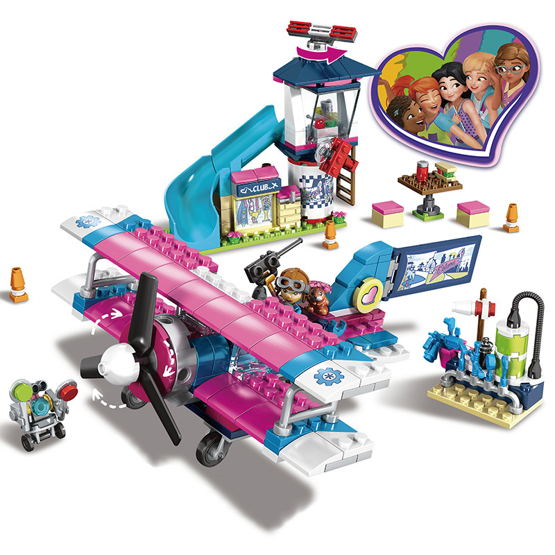 Friends Series Heart Lake City Olivia Airplane Tour Building Block Sets Compatible Legoings Friend Girls Toys Gift for ChildrenFriends Series Heart Lake City Olivia Airplane Tour Building Block Sets Compatible Legoings Friend Girls Toys Gift for Children