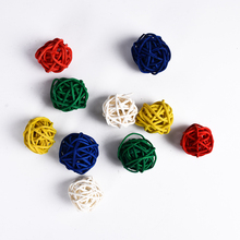 Wedding Rattan Ball Supplies DIY Accessories Ornament 10pcs Multi Colors Christmas Festival