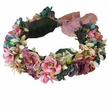 NEW Free shipping KLJH30666 30pcs /lot 2 colors 17CM Silk Silk flower headband Hawaii Dancer Summer Beach Party
