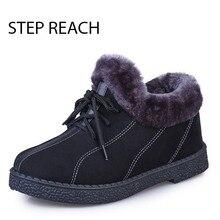Stepreach Брендовая обувь женские зимние Сапоги и ботинки для девочек короткие зимние плюшевые roundtoe для взрослых женские ботильоны Bottine Femme Zapatos botas mujer