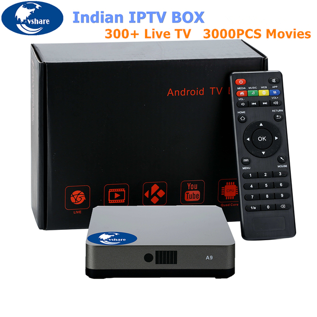 VSHAREIndian IPTV Box which support 300 plus indian channels, Support  HD Indian Channels, best Indian IPTV box No Monthly IP TV