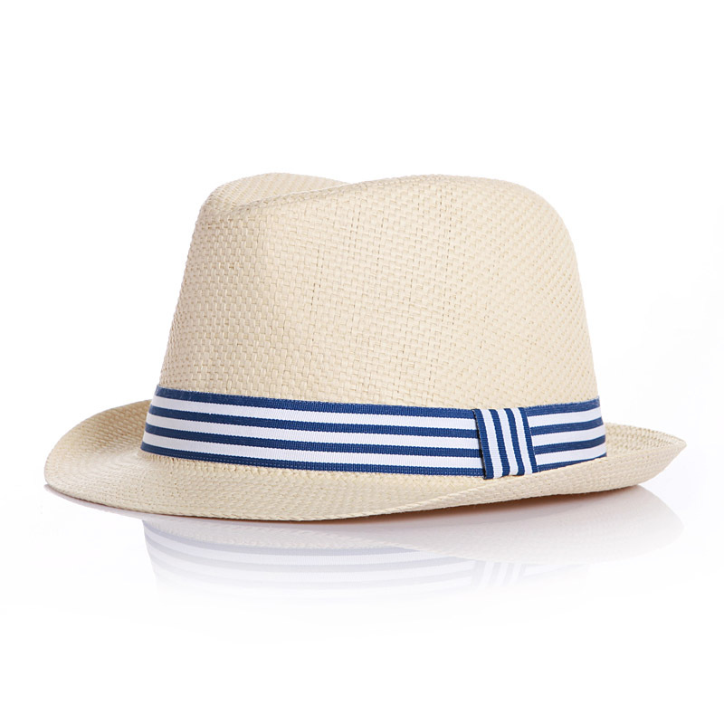 70f887279f6 Details about Summer Baby Hats Straw Kids Fedora Hats Boys Girls Breathable  Cap Blue Pink