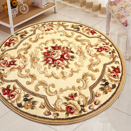 European round carpet living room bedroom hanging basket computer chair cushion household washable hand carved scissors flower t in Carpet from Home Garden