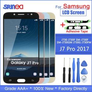 Image 1 - J7 Pro Lcd Bildschirm Ersatz Für Samsung Galaxy J7 2017 Touchscreen J730 J730f Lcd Display Digitizer Montage Mit Klebstoff zu