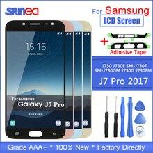 Reemplazo de pantalla Lcd J7 Pro para Samsung Galaxy J7 2017 pantalla táctil J730 J730f MONTAJE DE digitalizador de pantalla Lcd con adhesivo A
