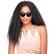 DLME Kinky Curly Peruvian Hair U Part Wigs With Adjustable Straps And Combs 10-26inch Natural Black No Shedding Synthetic