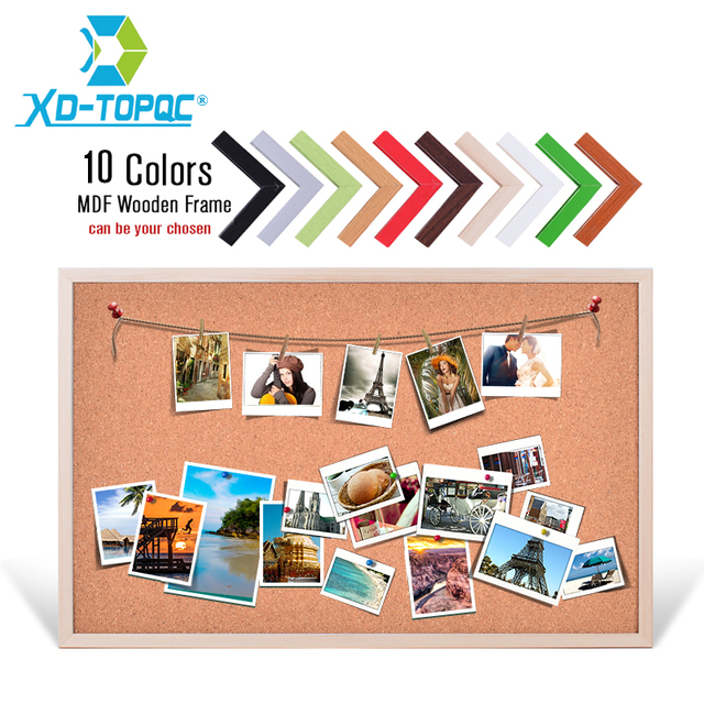 Free Accessories 60*90cm Message Wood Frame Bulletin Cork Board Office U0026  School SuppliesFactory Direct