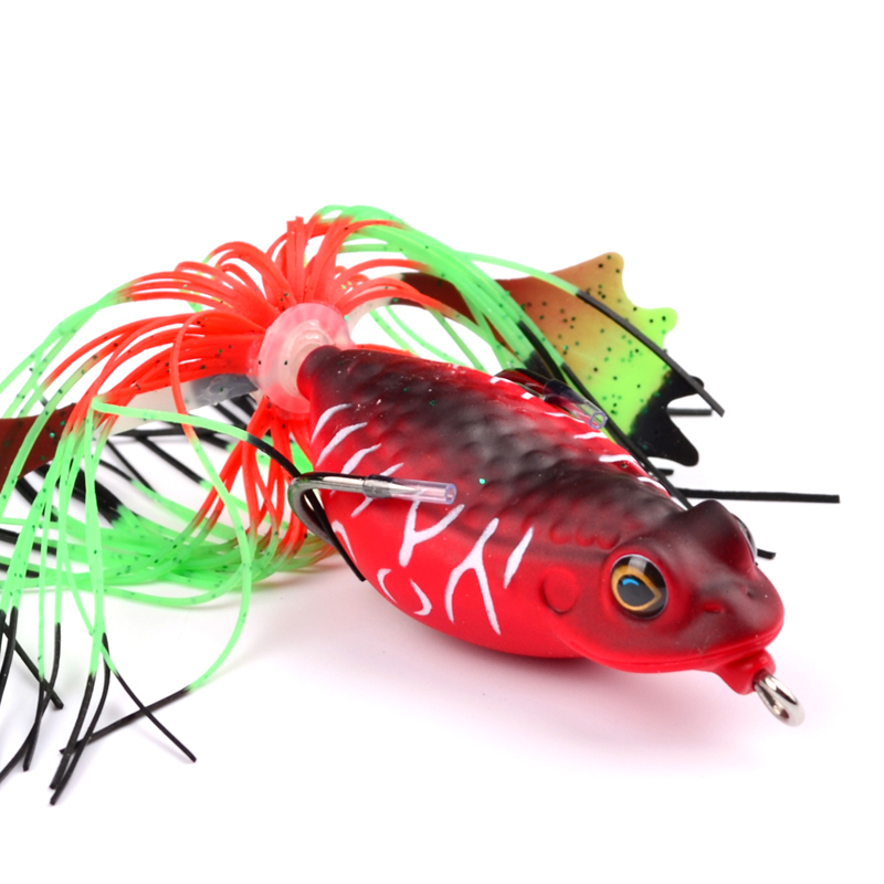New 1pcs Frog Lures Fishing Bait Artificial 635cm 318g Tackle Hard In From Sports Entertainment On