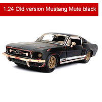 1:24 Mustang Wrangler Alloy Car Model retro car toy Making shabby Collection Gifts Birthday Gifts