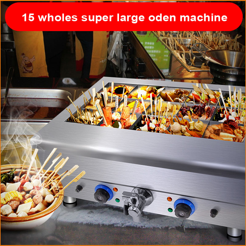 Commercial use Commercial Kanto Cooking Equipment Snack Food Oden Machine super large chips  fryer for sale fast food leisure fast food equipment stainless steel gas fryer 3l spanish churro maker machine
