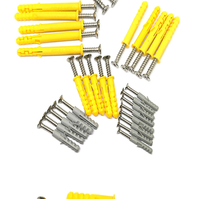 Small yellow croaker plastic expansion tube screw connector M6*30 expansion tube + stainless steel / color zinc screw (50 sets)