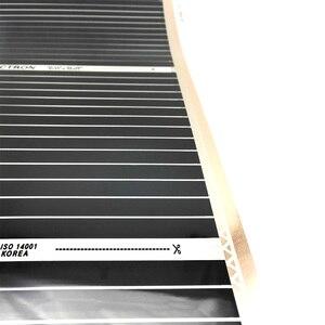 Image 4 - 10m2 0.5 メートル幅 280 W/m2 電気遠赤外線床暖房システムカーボン加熱フィルム 220V