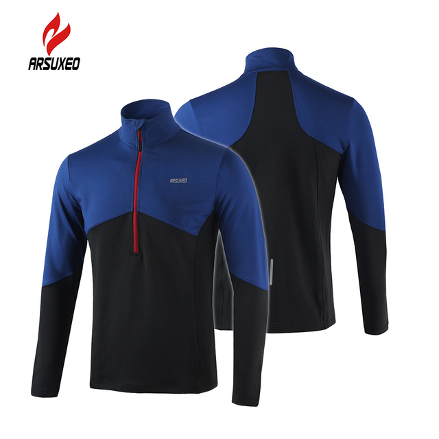 Arsuxeo Long Sleeve Cycling Coat Running Jacket Bicycle Bike Outdoor Spring  Summer Sportswear Cloth Zippered Breathable 694ff7691
