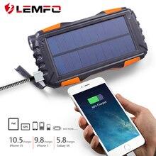 LEMFO Solar Power Bank 25000mah Big Than 20000mah IP67 Waterproof Powerbank Portable Mobile Phone Charger Outdoor LED Lighting