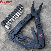 G301b Ganzo Tools Knife Pliers Outdoor Survival Gear Camping Knives Huntsman Pocket Edc Folding Plier Knife
