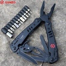 Ganzo Plier רב כלי G301 G301B Ganzo חלקי חילוף רב תכליתי מתקפל Plier EDC כלים רב הישרדות סכין מספריים מסור