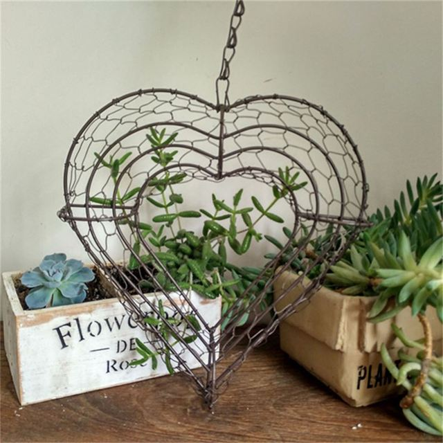 Flower Pot Basket French Provincial Metal Small Stand Set Wall ...