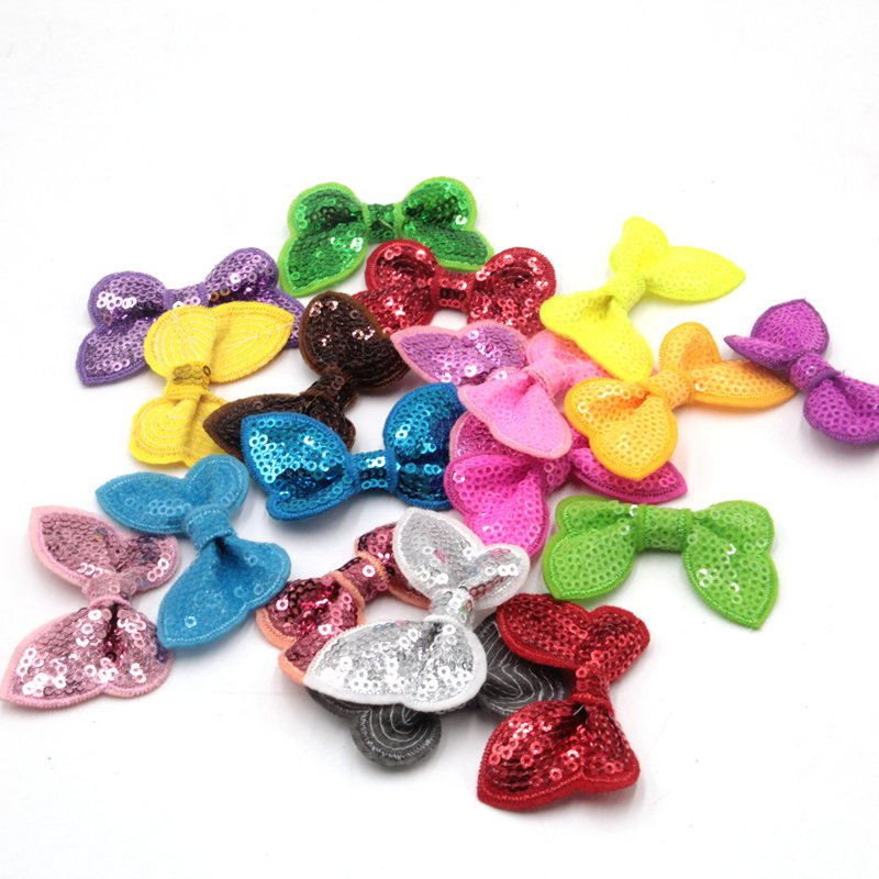 36pcs/lot Free Shipping Wholesale 12 Colors Glitter Designer Hair Bow DIY Accessory Hair Flowers Fashion Hair Accessory