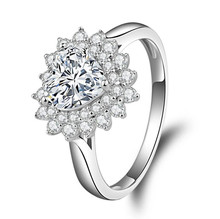 1.2 carat Flower shape 925 Sterling Silver SONA diamant Engagement S925 ring (XJ) недорого
