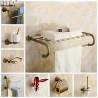 Bronze antigo conjunto de ferragens banho acessórios do banheiro prateleira saboneteira suporte papel higiénico dispensador sabão gancho da veste elm53