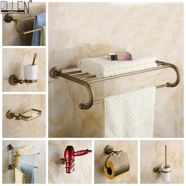 Antique Bronze Bath Hardware Set Bathroom Accessories Shelf Soap Dish Toilet Paper Holder