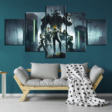 5 Piece Science Fiction Fantasy Art Pictures Deathgarden Game Poster HD Wall Paintings Canvas for Home Decor