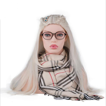 Realistic Tete White Mannequin Head Bust For Hair Wig Jewelry Hat Earring Scarf Earphone Display Wig Making Tools Wig Hanger