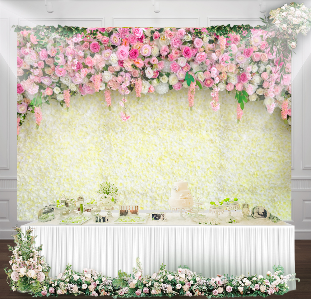 Wedding Ceremony Backdrop Floral Wall Baby Birthday Banner