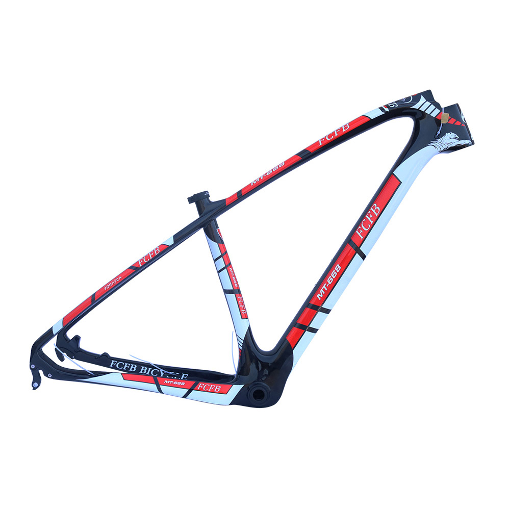 2017 FCFB T800 carbon mtb frame 27.5 29er mtb carbon frame carbon mountain bike frame 135*9mm MT668 3k glossy bicycle frame smileteam new 27 5er 650b full carbon suspension frame 27 5er carbon frame 650b mtb frame ud carbon bicycle frame