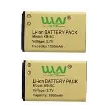 2 Unids Original Recargable Li-ion Battery Pack para WLN KD-C1 Airfree AP-100 de Dos Vías de Radio 1500 mah C-BAP100