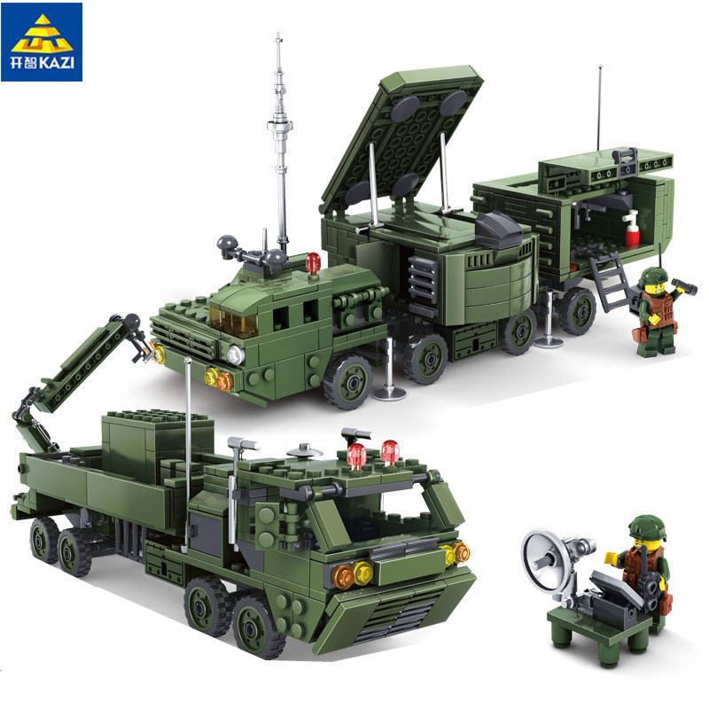 2 In 1 Field Army Series 534pcs Missile Launcher Military Building Blocks Brick Toy 84038 pvc building blocks army field combat military escort weapons