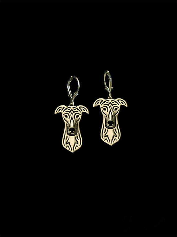 Trendy cute Greyhound drop earrings gold silver plated wholesale earrings women fashion jewelry from india bridal earing
