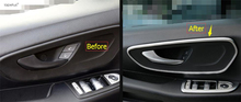 Accessories For Mercedes-Benz Vito W447 2014 2015 2016 2017 Car Door Pull Doorknob Handle Bowl Molding Cover Kit Trim 2 Piece