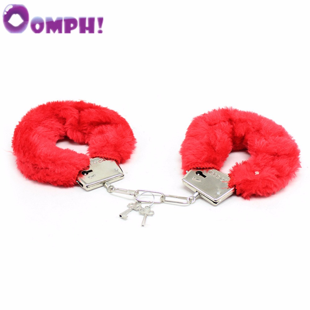 Oomph! Couples Bed Game Sex Restraints Bondage Sexy Feather Handcuffs for Couple Play