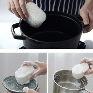Image 5 - Esponja limpiadora de melamina resistente duradera filtro esponja mágica cocina borrador lavavajillas bola Nano Magiczna Gabka 2019 gran oferta
