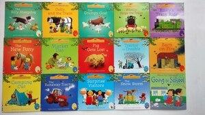 20 قطعة/المجموعة 15x15 سنتيمتر Usborne الكتب المصورة للأطفال و الطفل قصة الشهيرة الإنجليزية حكايات سلسلة من الطفل كتاب مزرعة قصة