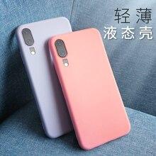 Couple Simple Summer Phone Cover Case For Huawei P20 P20pro Mate 20 20pro 20x Luxury Soft Original Liquid Silicone Coque Fundas