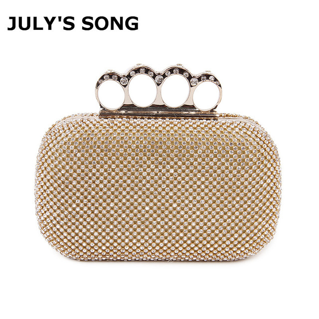 e4875d7b5e9ed Crystal Evening Bag Clutch Bags Clutches Wedding Purse Rhinestones Wedding  Handbags Silver/Gold/Black