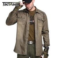 TACVASEN Men S Brand Tactical Shirt Breathable Cotton Long Sleeve Shirt Men Military Style Shirts Casual