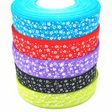 suoja 5yard/lot 1(25mm) Printed Organza Ribbon Flower DIY Craft Home Wedding Party Supplies suoja