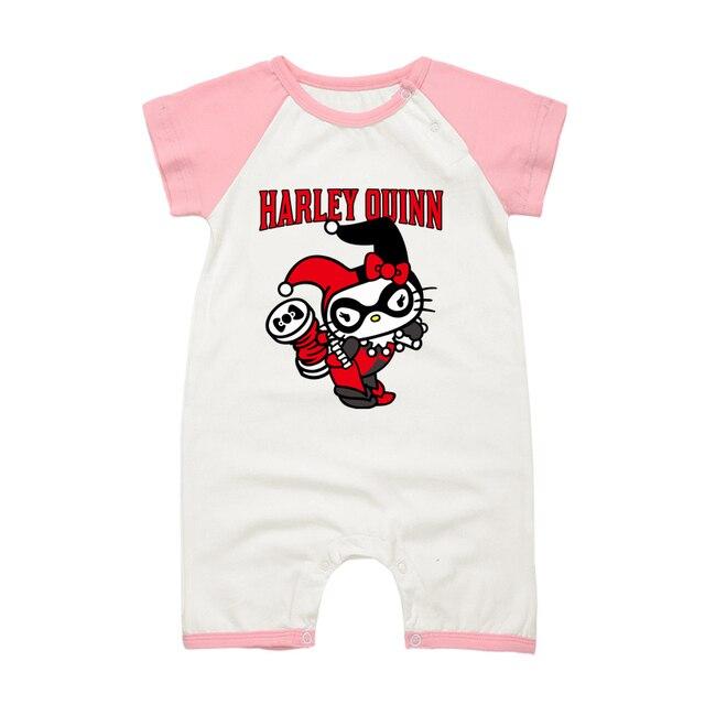 d16f42676 Summer Newborn Baby Girls Romper Short Sleeve HELLO KITTY Cartoon Cotton  Jumpsuits Infant Baby Pajamas Clothing Set