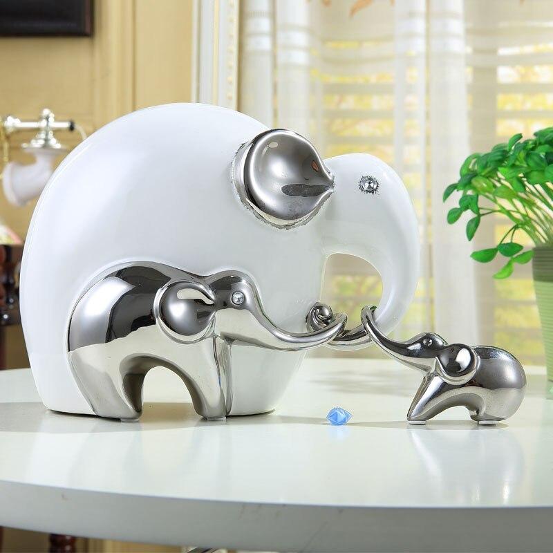 ộ_ộ ༽Elefante de porcelana escultura cerámica resumen animal ...