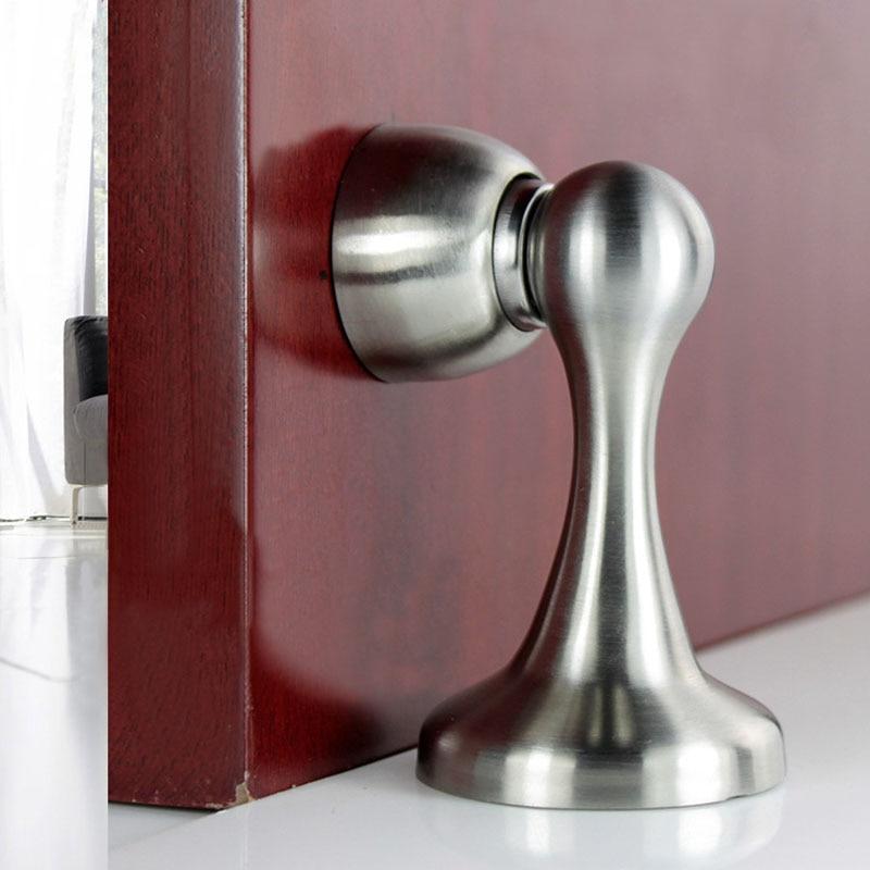 304 Stainless Steel Magnetic Door Stop Door Catch Metal Door Holder Doorstop Heavy Duty Conceal Screw Floor   HG99 пароварка faust hg 1040 304 24cm